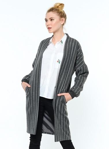Çizgili Palto-Vero Moda